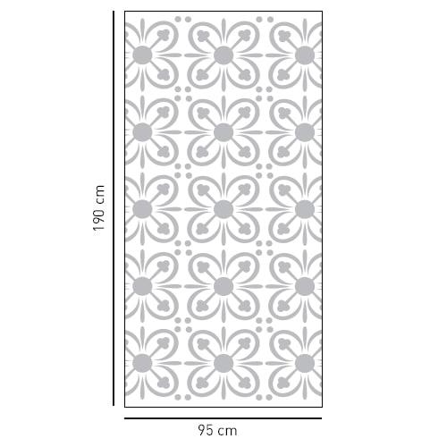 sticker décoratif pétale de fleur forme rectagulaire pour salle de bain
