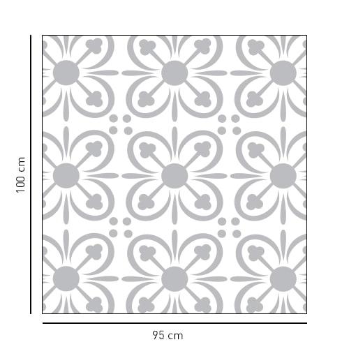 sticker carré pétales de fleur pour portes de douches