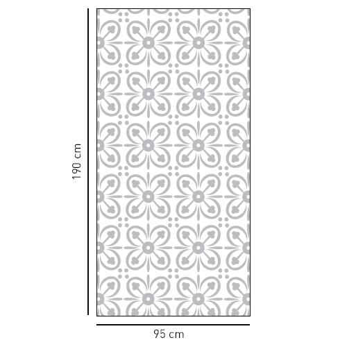 sticker petit pétale de forme rectangulaire pour portes de douches