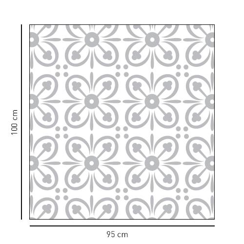 sticker format carré orné de petit pétale pour portes de douches