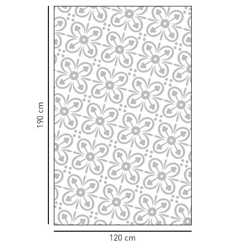 sticker déco pour vitres de douches 4 pétales de fleurs en diagonale