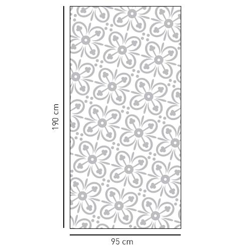 sticker format rectangulaire 4 pétales de fleurs pour vitre de douche
