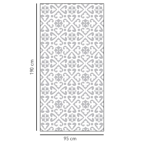 Sticker style Moyen Orient format rectangulaire pour salle de bain
