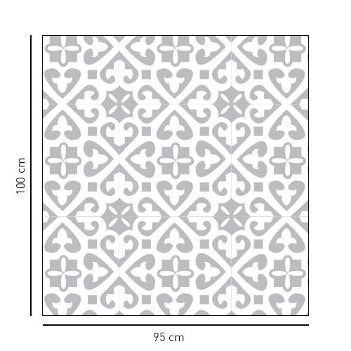 Sticker Moyen Orient format carré pour porte de douches
