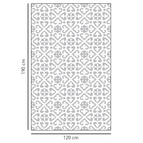 Sticker autocollant décoratif avec de petits motifs Moyen Orient pour salle de bain