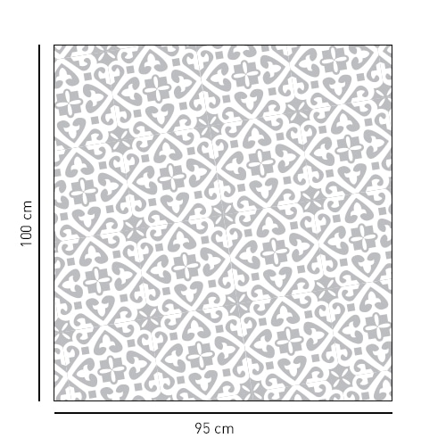 Sticker décoratif motif Moyen Orient en diagonale format carré