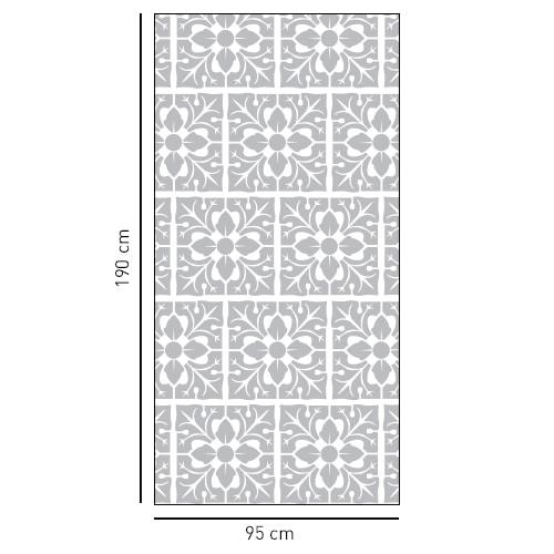 Sticker motif feuille à coller sur une vitre de douche
