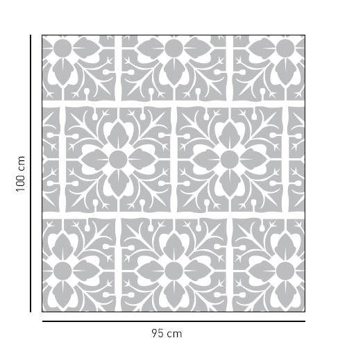 sticker carré motif feuille pour salle de bain