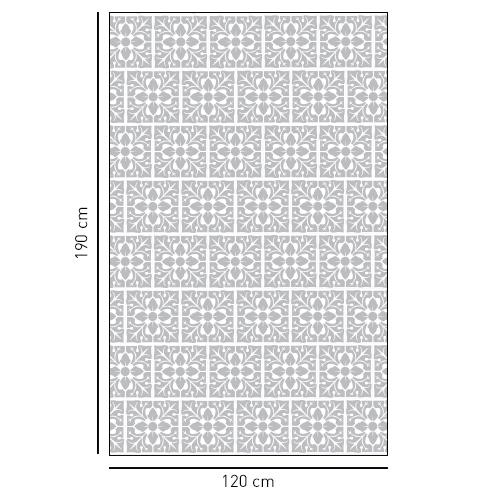 sticker décoratif adhésif pour porte de douche motif petites feuilles
