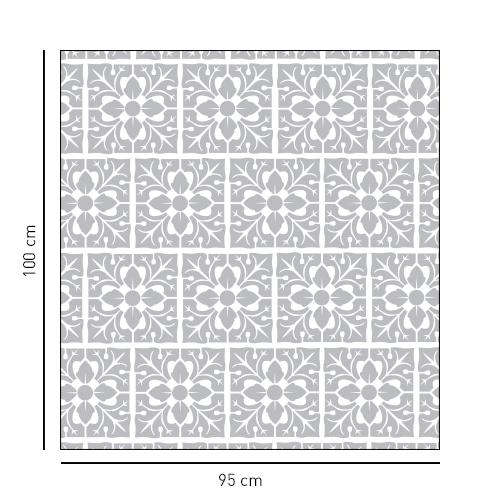 Sticker déco petit motif feuille format carré