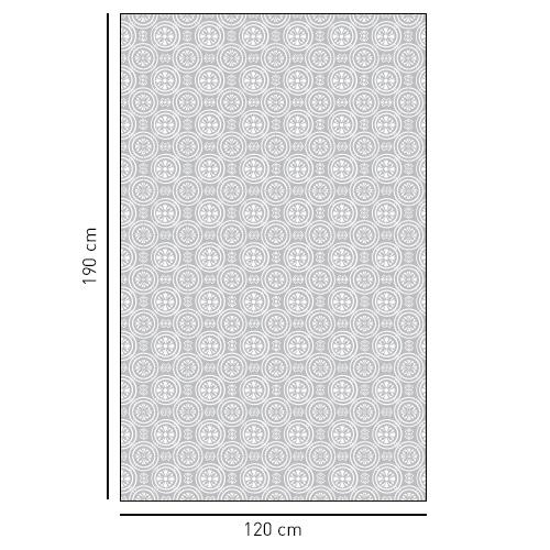 sticker décoratif adhésif motif rond pour salle de bain.