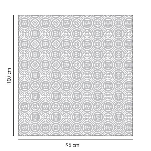 sticker format carré déco motif rond pour douche