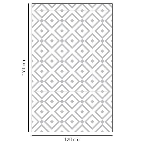 Sticker décoratif motif losange noir et blanc pour vitres de douches