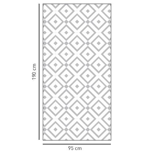 Sticker décoratif motif losange noir et blanc pour douches