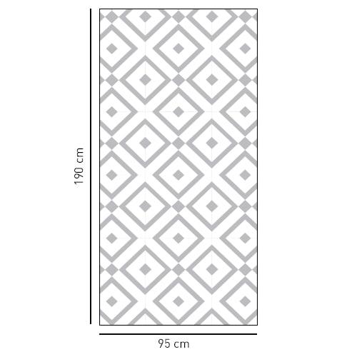 sticker décoratif motif méditerranéen pour douche