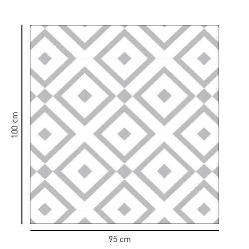 Sticker format carré style Méditerranéen pour vitre de douche