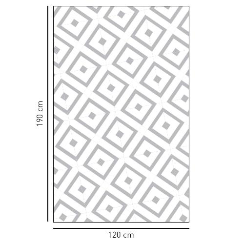 sticker décoratif autocollant motifs losanges d'inspiration méditérranéenne pour vitres de douches
