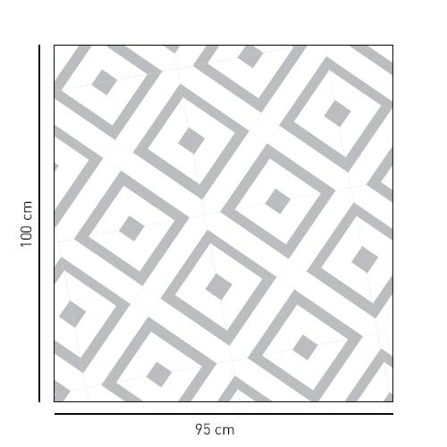 Sticker carré motif losange méditerranéen pour salle de bain