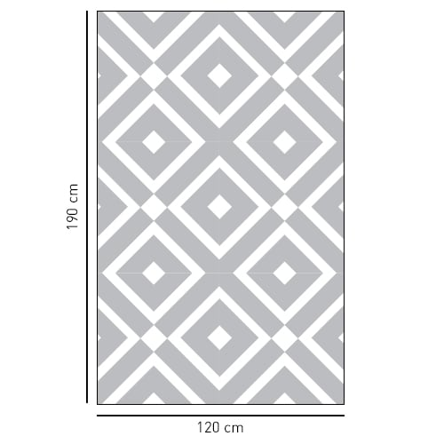 Sticker décoratif adhésif losange noir et transparent pour salle de douche