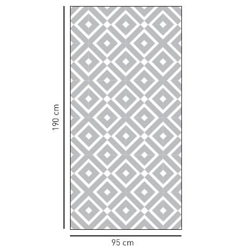 sticker motif méditerranéen en losange pour douches