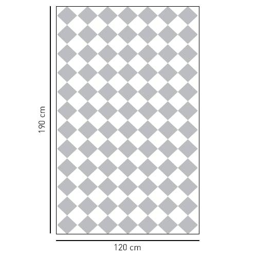 sticker décoratif adhésif motif damier gris et blanc pour salle de bain