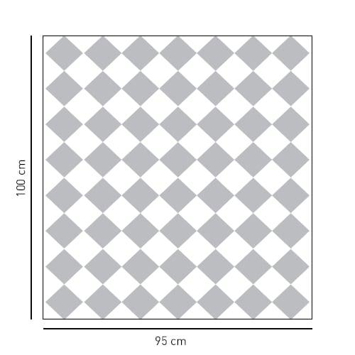 sticker carré motif en damier pour salle de bain