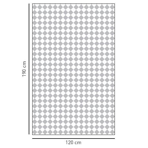 Sticker adhésif décoratif motif petits damiers gris et blanc pour salle de douche