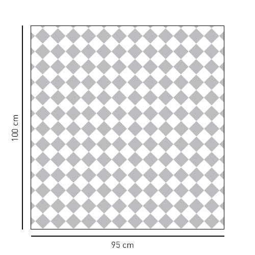 Sticker motifs petits damiers en format carré pour vitre de douche
