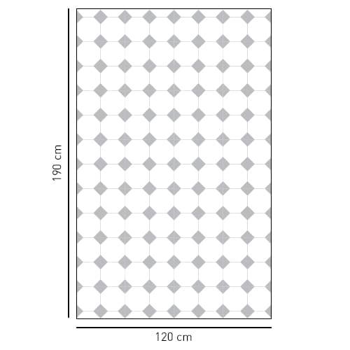Sticker décoratifs motif vichy petit losanges gris pour salle de bain