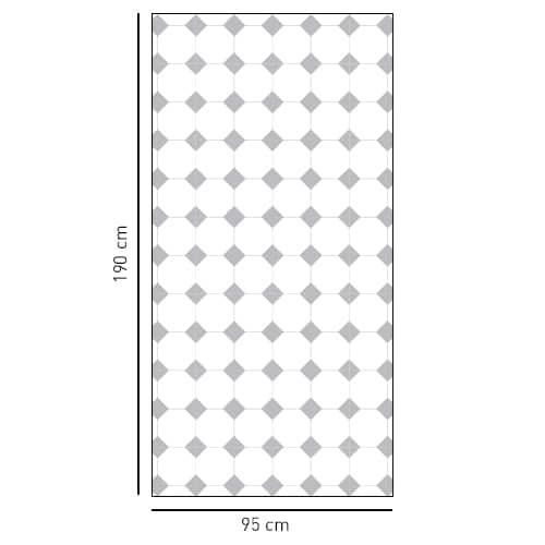 sticker motif VIchy petits losanges gris pour salle de bain