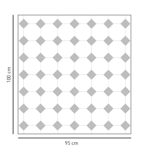 Sticker format carré déco Vichy pour salle de bain