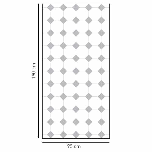 Stickers salle de bain losanges gris motifs Vichy