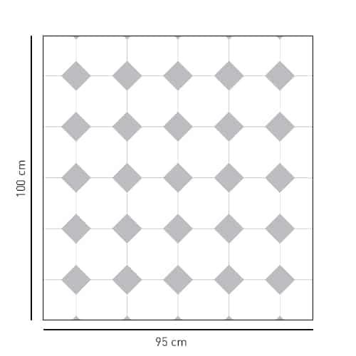 Sticker motif Vichy grands carreaux gris pour salle de bain