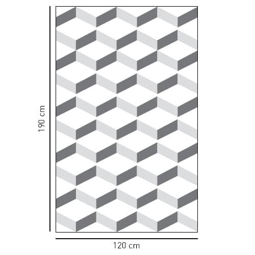 Sticker décoratif adhésif Chevrons 3D pour coller sur la vitre de douche