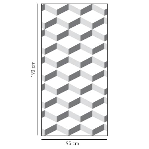 sticker décoratif adhésif Chevrons 3D blanc pour salle de bains