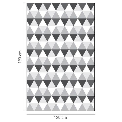 Sticker décoratif adhésif Motifs losanges gris et noirs pour salle de douche