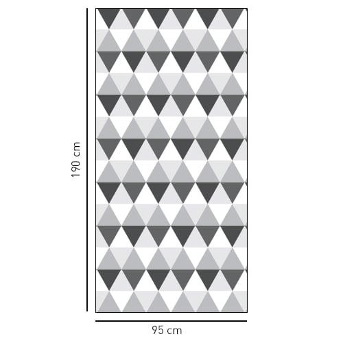sticker décoratif adhésif motifs losanges bi-colors pour douches