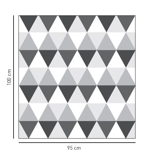 Sticker décoratif format carré motif losanges bi-colors pour salle de bain
