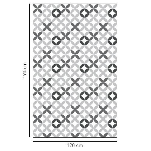 Sticker adhésif carreaux de ciment XO pour déco de salle de bain