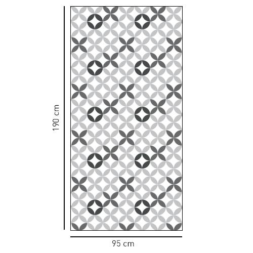 Sticker carreaux de ciment XO déco pour salle de bain