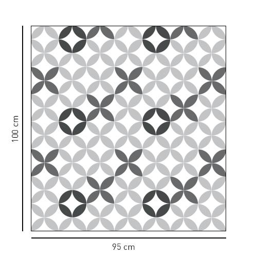 Sticker Carreaux de ciment pour paroi de douche