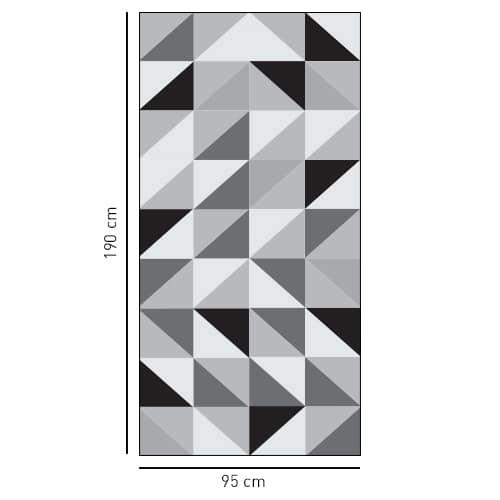 sticker autocollant triangle tri-color pour salle de douche