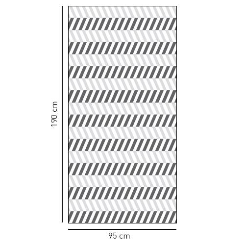 Sticker Chevrons verticaux pour la salle de bain