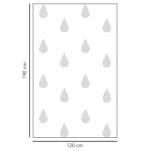 Sticker autocollant décoratif motif Grande gouttes d'eau grise pour salle de bain