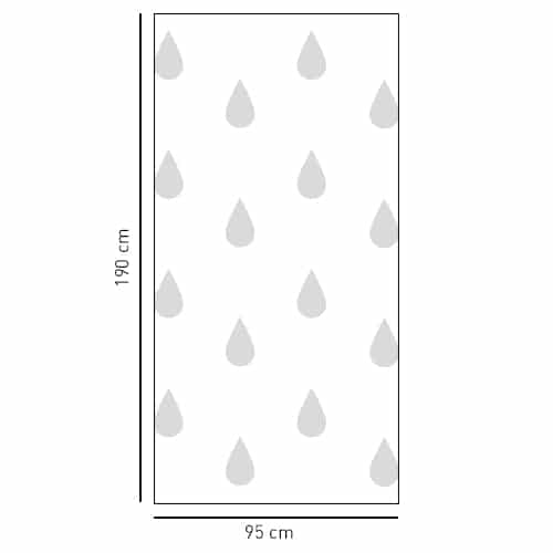 Sticker adhésif motif grosses goutes pour douches