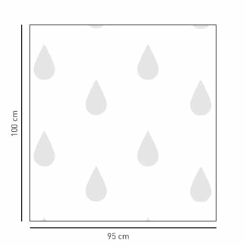 Sticker format carré motif grosses gouttes pour salle de bain