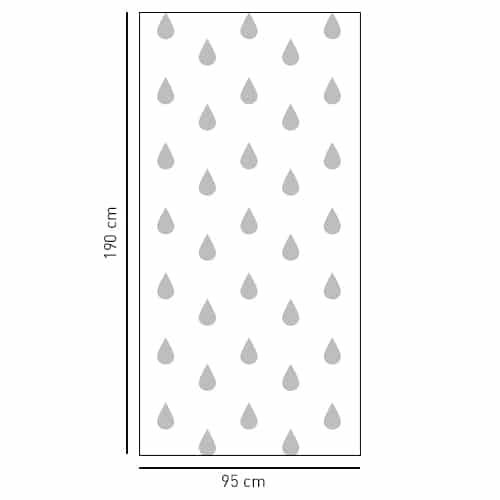 Sticker Moyennes Gouttes déco pour salle de bain