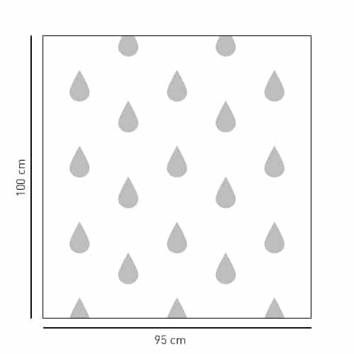 Sticker autocollant Moyennes Gouttes pour paroi de douche