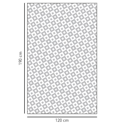 Sticker autocollant moyens carrés noir et blanc déco pour la salle de bain