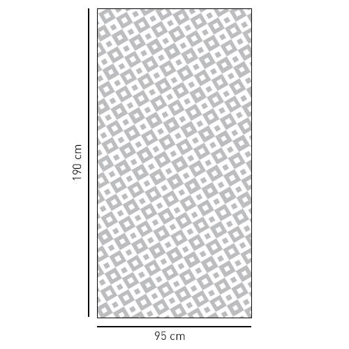 Sticker autocollant moyens carrés noir et blanc pour salle de bain
